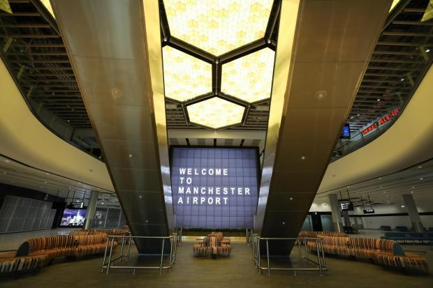 Lancashire Telegraph: The new departure lounge features a honeycomb light installation