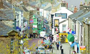 CHALLENGE: Clitheroe town centre in the heart of the Ribble Valley