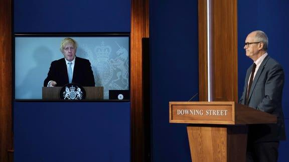 Lancashire Telegraph: Boris Johnson is currently self-isolating after being in close contact with Health Secretary Sajid Javid. (PA)
