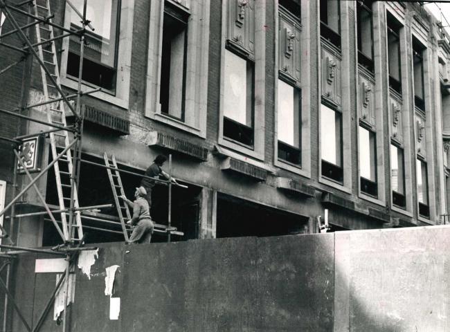 Blackburn Library under construction, 1974