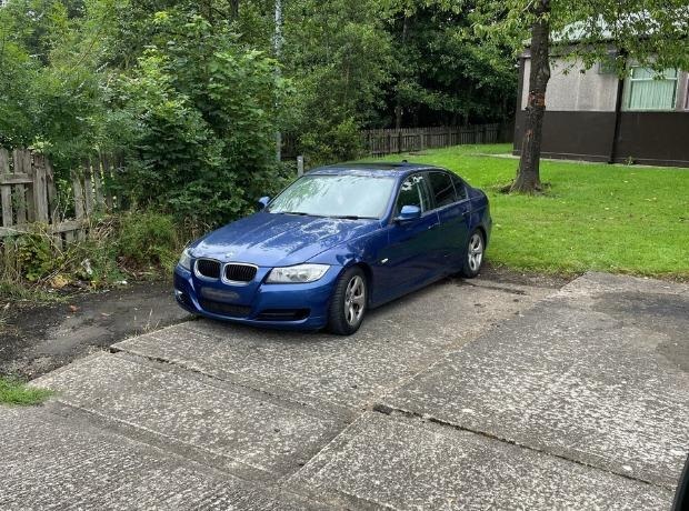 The BMW was stopped in Nelson and found to be on false plates