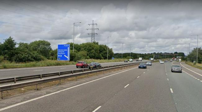 Traffic stopped on M6 as pedestrian seen crossing busy carriageways