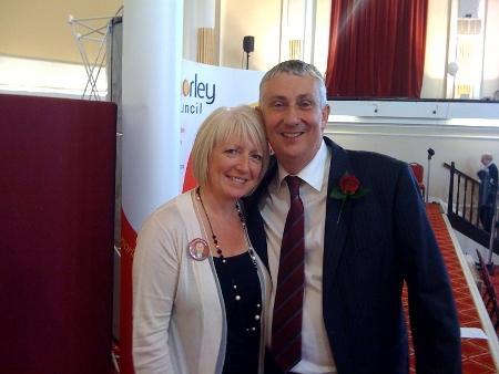 Lindsay Hoyle with wife Cath
