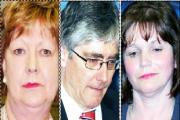 LABOUR LOSERS: Rossendale's Janet Anderson, Pendle's Gordon Prentice and Burnley's Julie Cooper