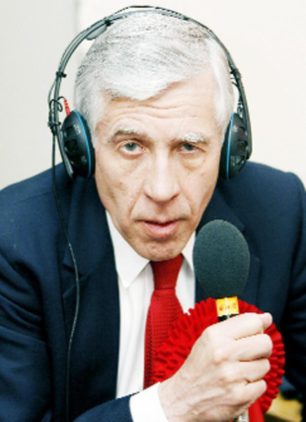 NOT IN RUNNING: Blackburn MP Jack Straw