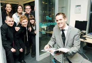 BACKER: Apprentice star Alex Wotherspoon visits students at Blackburn College