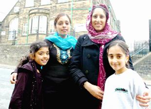 MUMS: Shabana Zaroof, of Holly Street, with daughter Mariyam  and Samia Khanum  also of Holly Street, with daughter Madiha, who  attend Walverden