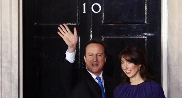 Samantha Cameron outside Number 10