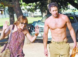 HAPPY COUPLE: Jennifer Lopez and Alex O'Loughlin lack any real spark in The Back-Up Plan
