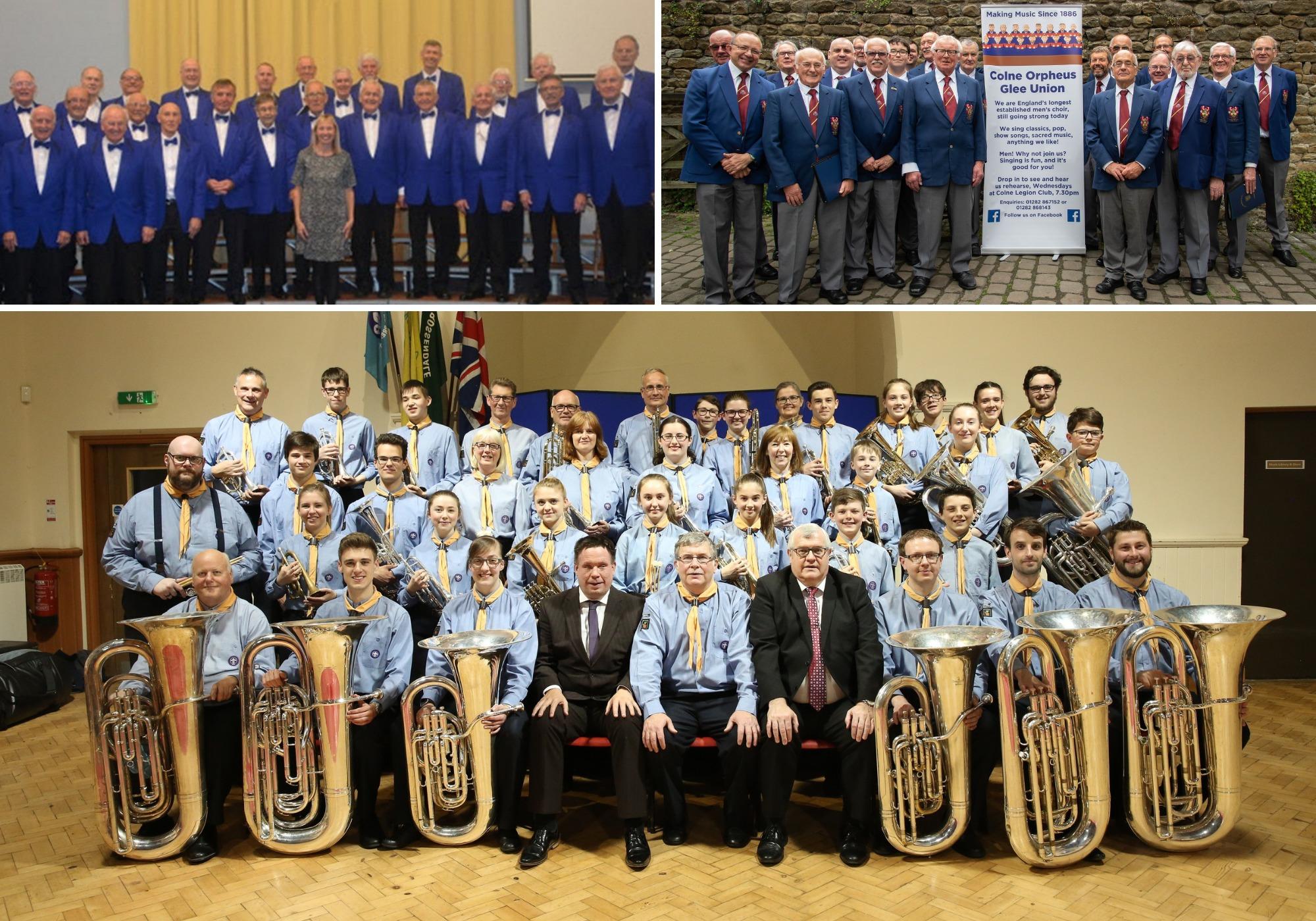 La banda de música y los coros masculinos finalmente se preparan para realizar un concierto de recaudación de fondos después de las cancelaciones de Covid