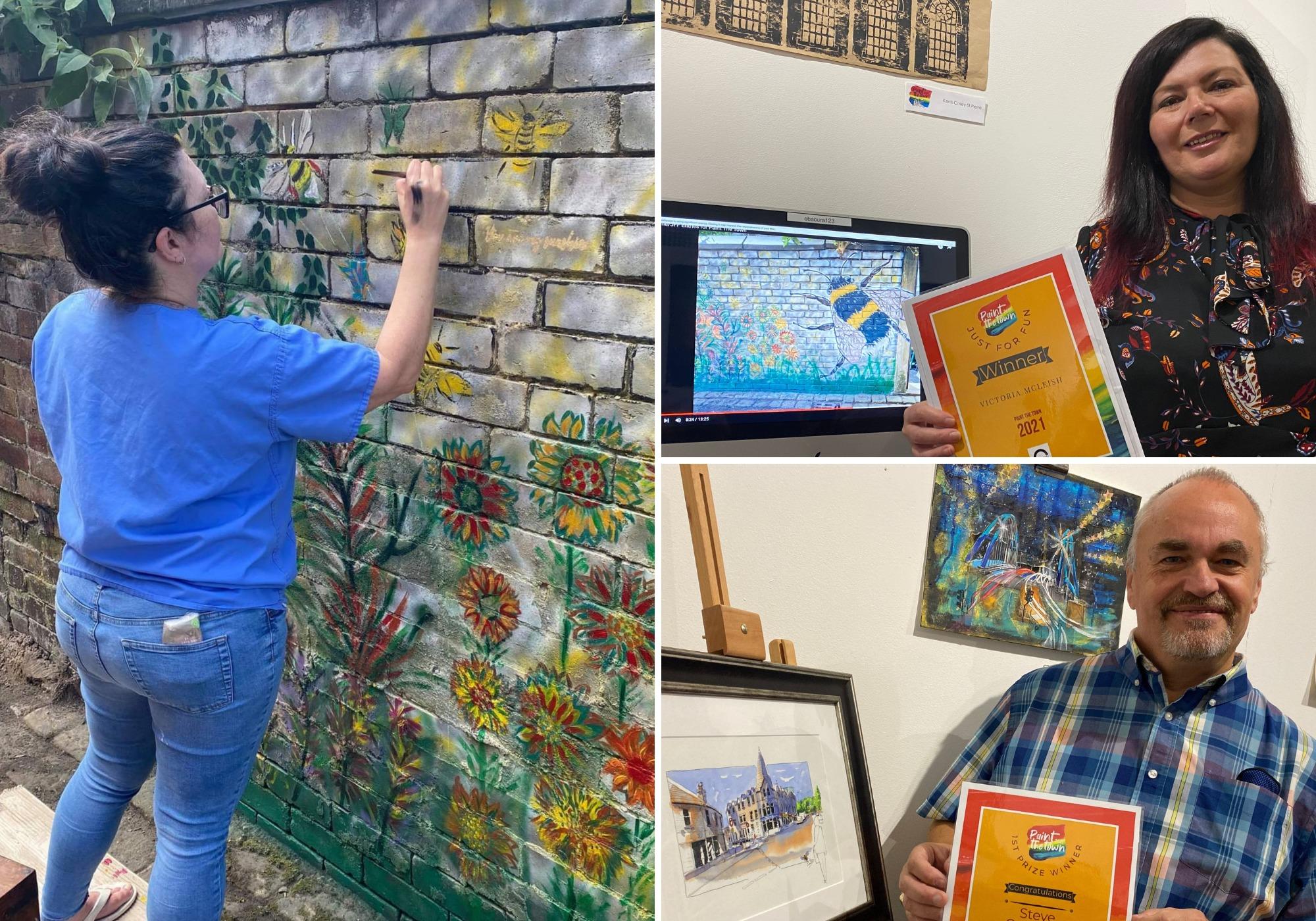 Dos artistas ganan premios en el proyecto 'Paint the Town' de Blackburn