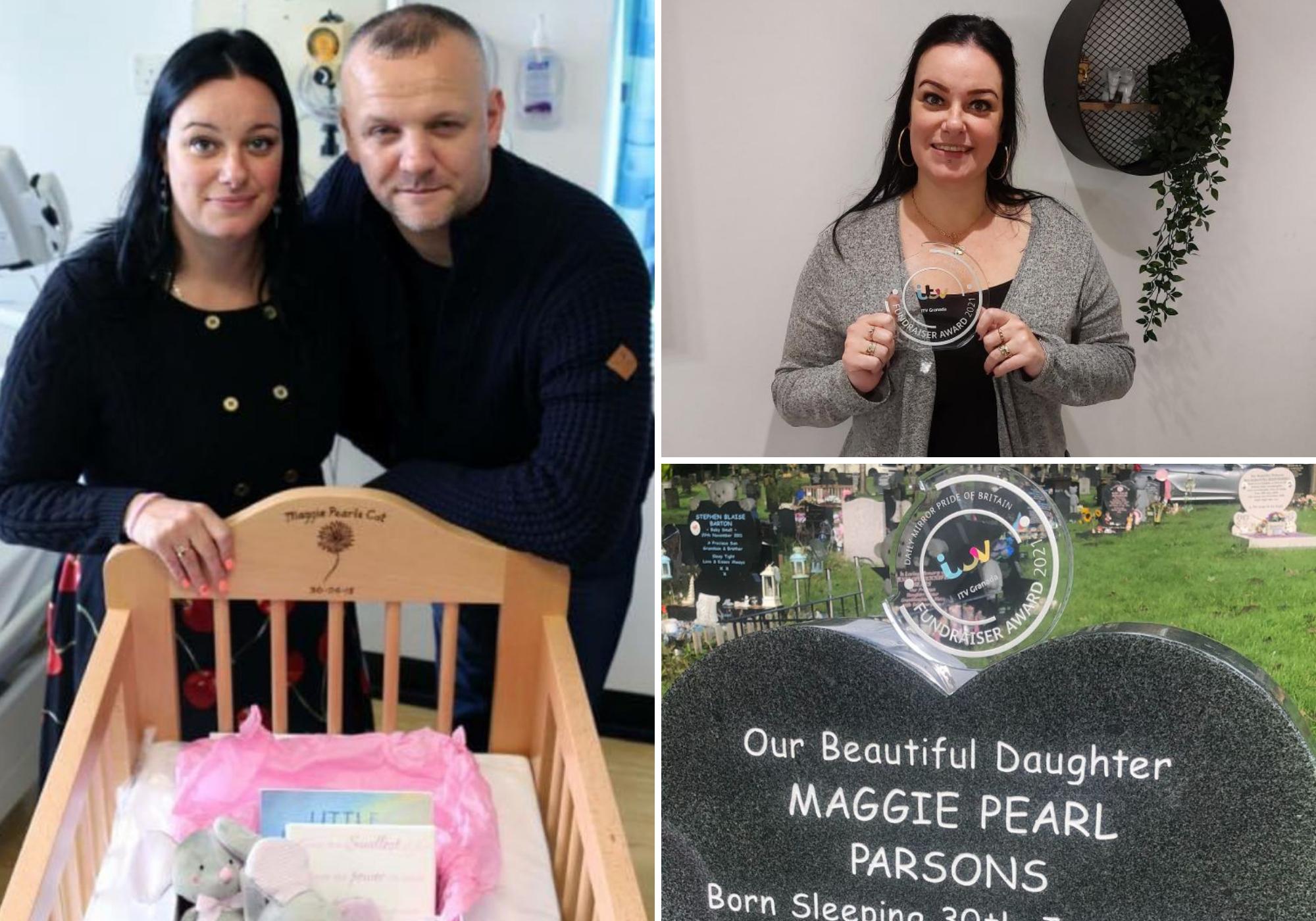 Penghargaan Pride of Britain untuk ibu Blackburn yang memulai penggalangan dana untuk menghormati putrinya yang lahir mati