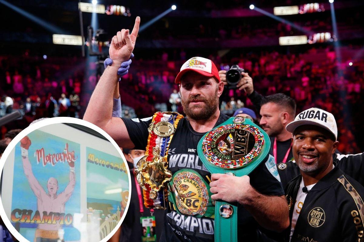 Tyson Fury le da a Lancashire un reconocimiento después de la victoria del boxeo