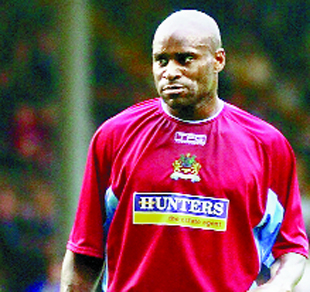 BOYZ WILL BE BOYZ: Frank Sinclair as a Burnley player