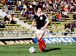 ON THE BALL: Graeme Souness on international duty for Scotland at the World Cup in Argentina in 1978