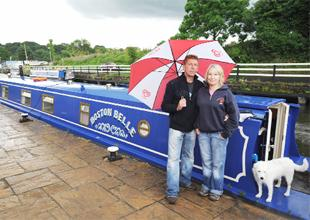 HOME AND DRY: Lesley and John Yates of Canal Boat Cruises