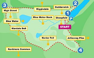 ROUTE: Map of Coniston walk