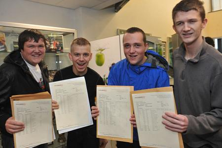 Pupils at Shuttleworth College celebrate theirGCSE results