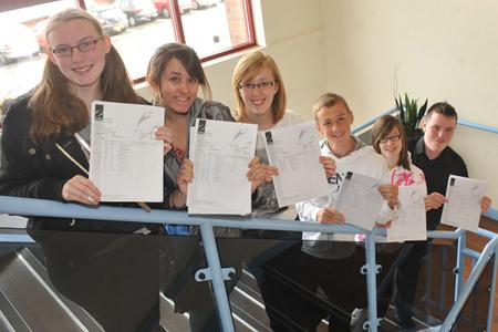 Unity College pupils celebrate their GCSE results
