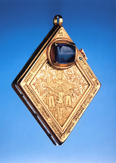 EXCITING DISCOVERY: the Middleham Jewel, which was found 25 years ago.