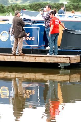 SPLASHING OUT: Boaters enjoying themselves at the moorings at Reedley Marina which may be expanded