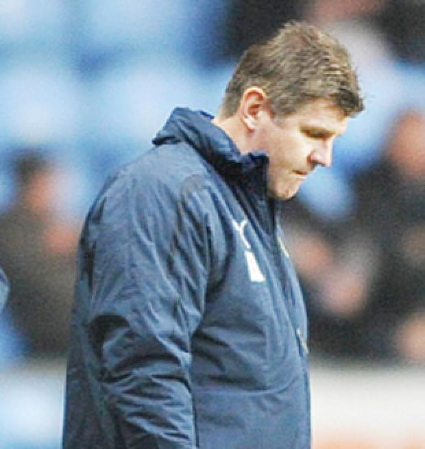 DESPAIR: Brian Laws reflects on defeat against Coventry City
