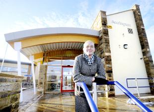 HAPPY: Paula Brierley gives the new station the seal of approval