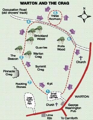 ROUTE: Warton Crags walk