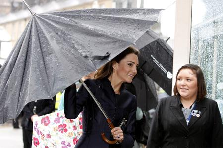 DARWEN Kate Middleton arrives