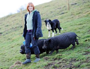 POPULAR PORKERS  Joanne Rowe, who breeds them as pets