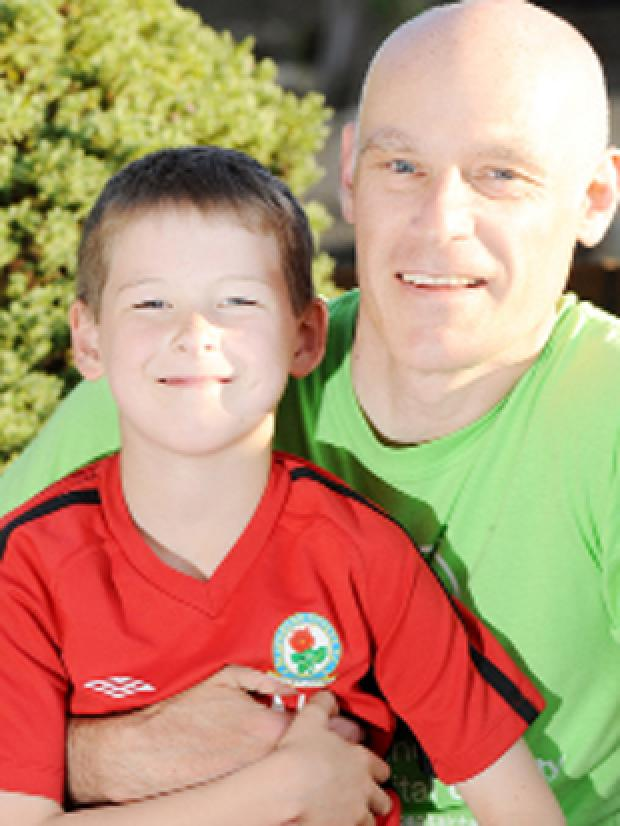 RECOVERED Joe Geldard with dad David