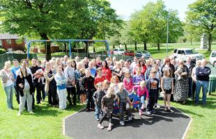 FLASHBACK Residents opposed to the plans in the playground last week