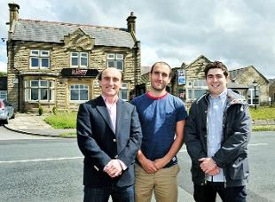 EXPANDING BUSINESS Ignazio Pillitteri and his sons Carmelo and Francesco at their new venue in Red Lees Road, Cliviger