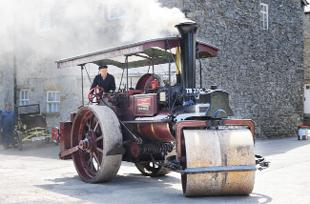 STEAMING IN: 'Old Ernie', a vintage steam roller