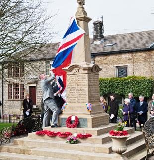 UNVEILING The restored Hoddlesden war memorial. Picture provided by Neil Hornby Photography.