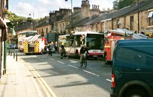 Road Closed In Ramsbottom Due To Bus Fire Lancashire Telegraph