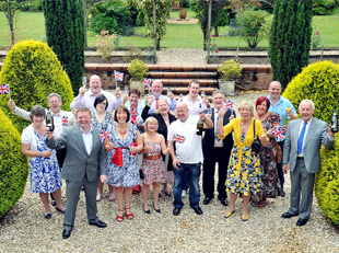 CHEERS North West lottery winners at their celebration