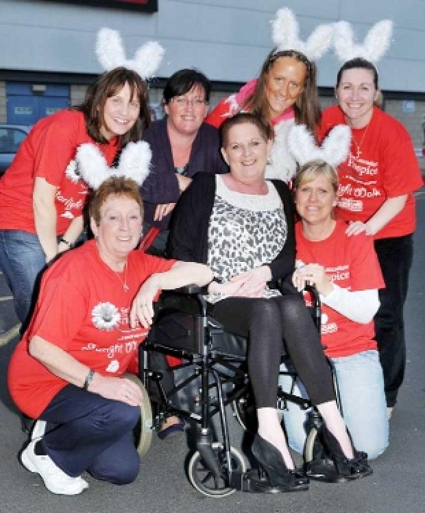 CHARITY WALKERS: Sheena Scott, centre, with her mum Dee Gradwell, front left, and others who took part in the Starlight Walk
