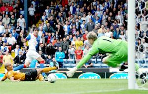 ON TARGET  Mauro Formica scores his first goal for Rovers