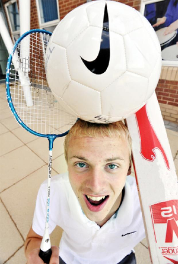 ON THE BALL Accrington Academy's Steven Astbury got a distinction in sport and hopes to become a sports psychologist