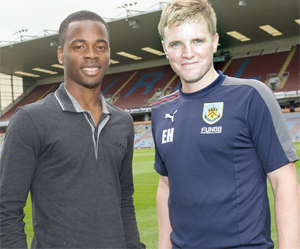 WELCOME TO TURF Zavon Hines is the latest player to be signed by Burnley boss Eddie Howe    Pic: ANDY FORD