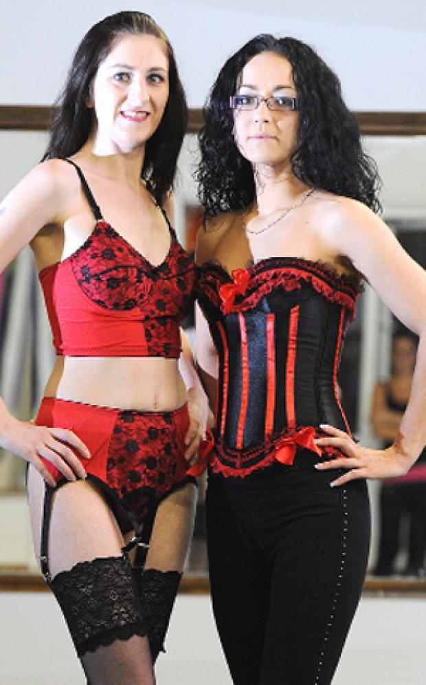 STRIPPED DOWN: Mel Macfarlane, left, and Rachel Tatlow will model lingerie in aid of East lancs Hospice