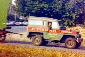 TRUE COLOURS Fred Dibnah and his Holland's-style vehicle