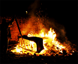 DANGER Firefighters attending bonfires were attacked in Larkhill and Robinson Street areas of Blackburn