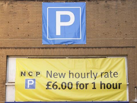 RISE Steep prices at a car park