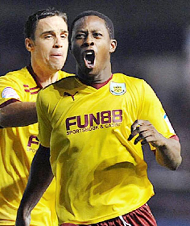 FIGHTBACK Marvin Bartley celebrates his equalising goal