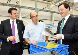VIP GUEST Flashback to when future Chancellor George Osborne visited Weston during the general election campaign in April 2010. He is seen with Andrew Stephenson, then Conservative candidate for Pendle, and Bob Brownridge, then MD.