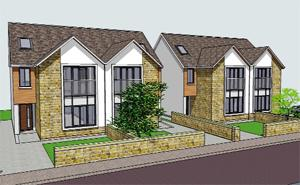MODERN An artist's impression of the houses