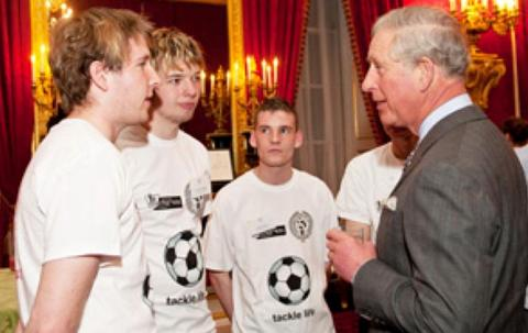 Jamie Woodruff was among volunteers who met Prince Charles
