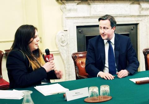 SEAT OF POWER Maisy Whipp interviews David Cameron